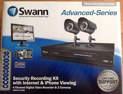 Swann DVR4-1200 Security Monitoring System +  2xCameras + 500GB HD Recording Kit
