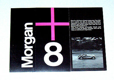1969 MORGAN Plus 8 brochure - Original 10 page folder on Morgan +8 sports car