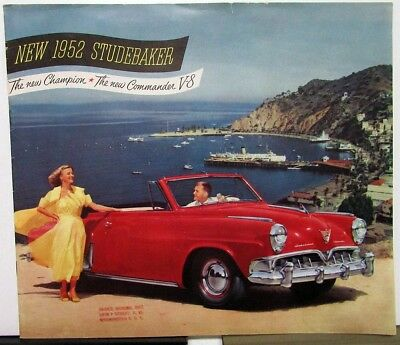 1952 Studebaker Champion Commander V8 Color Sales Brochure XL Original