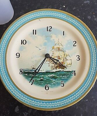 Pre owned Vintage rare smiths hms Bounty synchronous wall clock