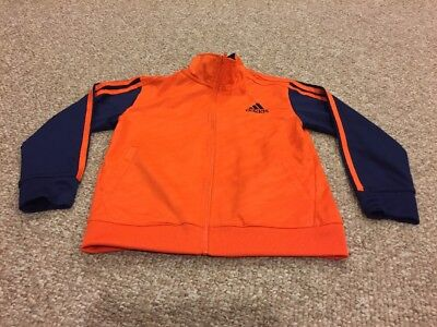 Adidas Track Jacket (Boys 6) Orange/Navy