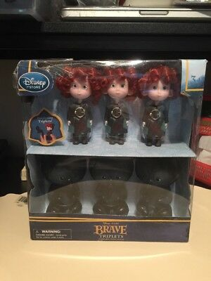 NEW RARE DISNEY STORE Pixar BRAVE Transforming Triplets Toys  FREE SHIPPING