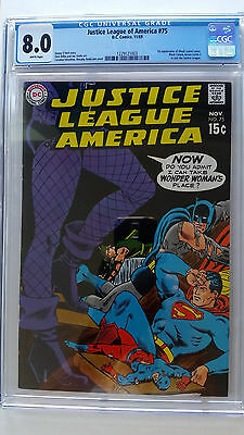 Justice League of America #75 CGC 8.0 VF  1st Appearance Dinah Lance