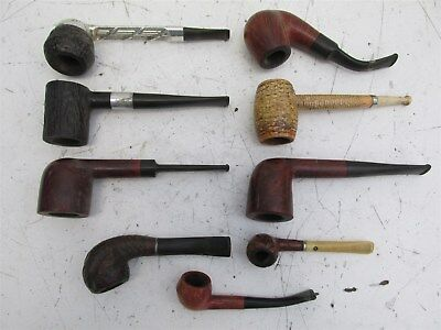 Lot of 9 Vintage Smoking Pipes Imported Briar , Piccadilly+