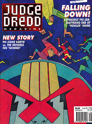 Judge Dredd Megazine #56 Volume 2 , Jun 1994 , 2000AD , Fleetway , VERY FINE