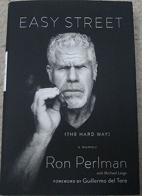 RON PERLMAN  autographed book EASY STREET....SONS OF ANARCHY...HELLBOY