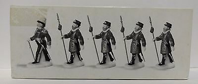 Department 56 'Yeomen of the Guard set of 5' 58397 Heritage village collection