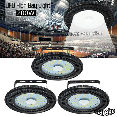 3X 200W UFO LED High Bay Light Factory Warehouse Shed Lighting Industrial lamp
