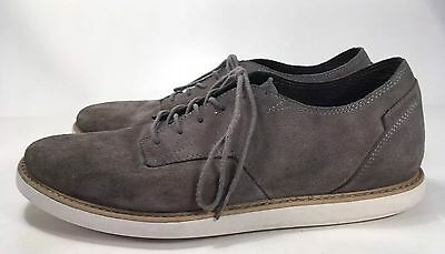 Volcom Gray Suede Casual Sneakers Men's Sz 9.5M Lace Up