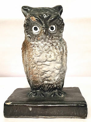 Rare Stamped Northwestern Terra Cotta Co Denver Owl Bookend c. 1911-1930 Antique