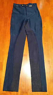 GORRINGE ladies jodphurs breeches Navy Blue More listed Sticky Bum England
