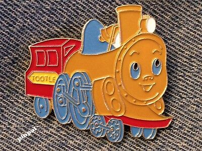 Tootle Lapel Brooch Pin ~ Baby Locomotive ~ Little Train ~ 80's vintage