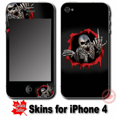 Cool Skull SKIN STICKER DECAL COVER for Apple iPhone 4