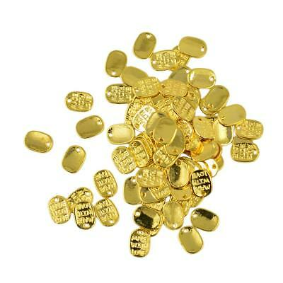 50Pcs Oval Gold Made With Love Charms Bead Pendants Jewelry Finding DIY