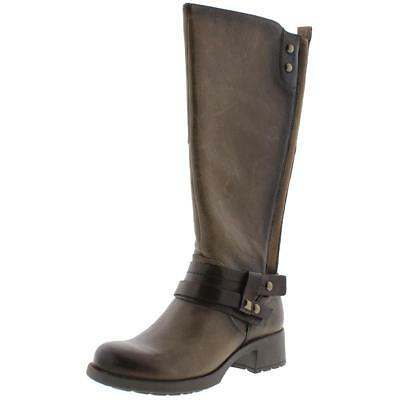 Earth 8136 Womens Sequoia Taupe Leather Riding Boots Shoes 5 Medium (B,M) BHFO