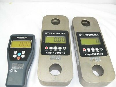 (#1) Dynamometer 10,000kg load cell crane scale + Wireless Reader  (issues)
