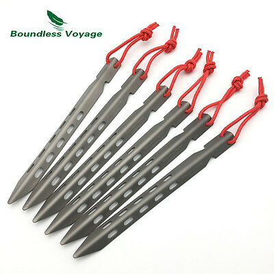 Boundless Voyage 6/8/12pcs V-shaped Titanium Tent Pegs Canopy Spike Stake Nails