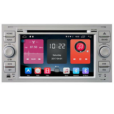 "7"" New Android 6.0 Car Stereo GPS For Ford Focus C-Max Fiesta Kuga Silver"