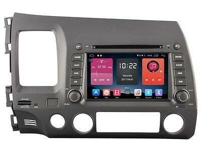 Android 6.0 Car DVD GPS Navigation Wifi Radio Stereo For Honda Civic 2006 - 2011