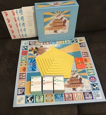 Seven Steps To Heaven Religious Board Game Vintage Rare Collectible
