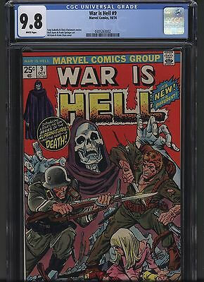 War is Hell 9 Marvel 1974 CGC 9.8 White pgs! 1st app. Death Hot! Free S/H!