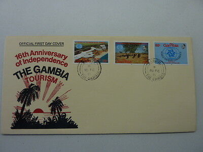 1981 The Gambia Tourism FDC World Tourism Conference stamp issue