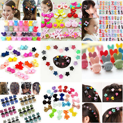 Wholesale Kids Baby Girls Snowflake Hairpins Mini Claw Hair Clips Clamp Flower