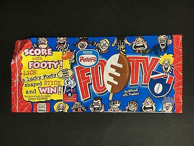 """Peters Ice Cream Wrapper """"footy"""""""