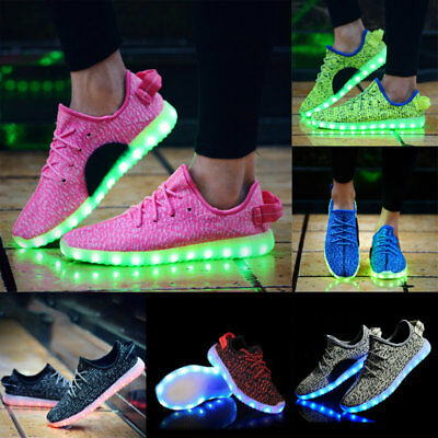Unisex Adult LED Light Lace Up Luminous Shoes Sportswear Sneaker Casual Shoes
