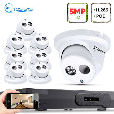 (8)2MP 1080P HD ARRAY IR CCTV IP DOME Camera 8CH Net P&P POE NVR Security System