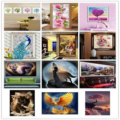 AU 5D DIY Diamond Painting Embroidery Flower Animal Cross Stitch Home Wall Decor