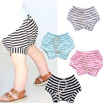 Multi-color Toddler Baby Boy Girl Summer Cotton Pants Striped Bottoms Shorts