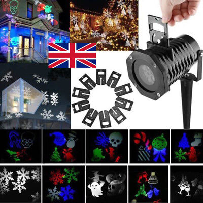 Halloween LED Laser Projector Light 10Pattern Outdoor Landscape Xmas Party Lamp