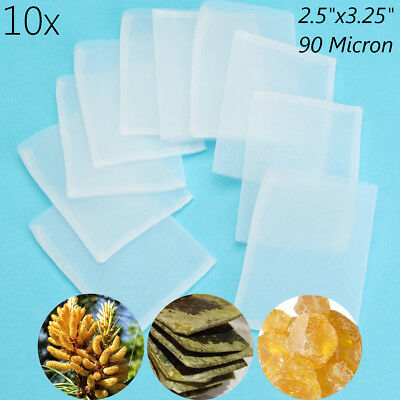 10X 90 Micron Rosin Bags 8.3x6.3cm FDA Food Grade Nylon Screen Heating Press Bag