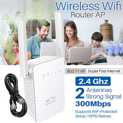 Super Hi-Speed 300Mbps Wireless Wifi Repeater 802.11AP Range Router Booster UK