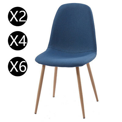 2/4/6 Modern Dining Chairs High Cut Back Faux Leather Foam Padded Chrome Legs