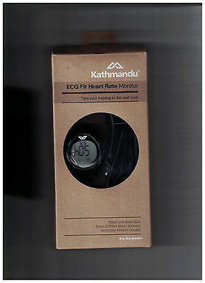 Kathmandu ECG Fit Heart Rate Monitor Training Chest Strap Watch Calories Run New
