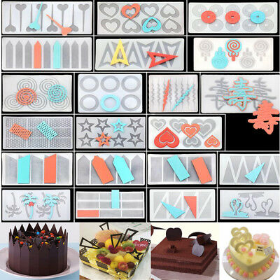 Silicone Chocolate Fondant Candy Cake Decorating Sugarcraft Baking Mould Tools
