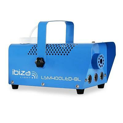 400W IBIZA MINI PARTY DISCO NEBEL MASCHINE LED LICHT SHOW EFFEKT NEBLER in BLAU
