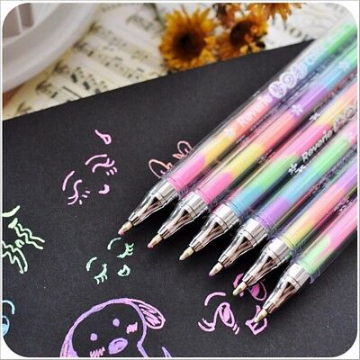 6 in 1 Color Bright Watercolor Highlighter Marker Pen Kids Painting Drawing