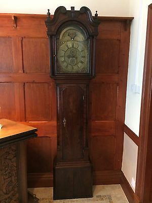 Georgian P Clare Manchester Grandfather Clock For Restoration Circa 1770