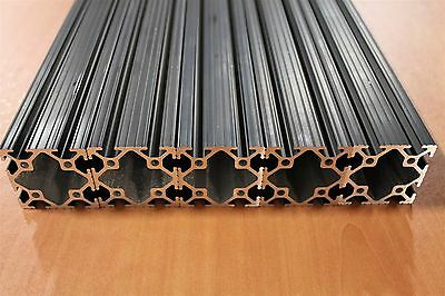 80/20 Inc 2 x 2 T-Slot Aluminum Extrusion 10 Series 2020 Black Lot 96 (5pcs)
