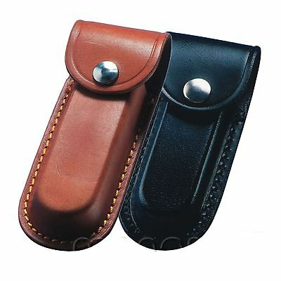 Whitby Universal Leather Belt Sheath Pouch for Folding Knife Knives, Multi Tools