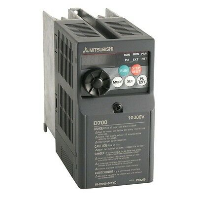 2.0Hp Mitsubishi Electric D700 Single To 3Ph Inverter Fr-D720S-070Sc-Ec