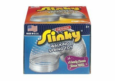 Original Metal Slinky Silver Classic Walking Spring Toy Novelty Gimmick Game Kid