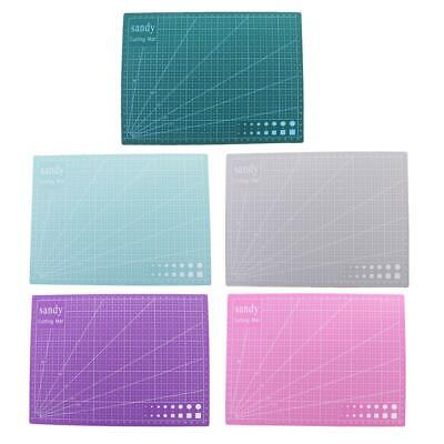 A4 Double Sided Cutting Mat Cutting Board Printed Grid Lines Board for Patchwork