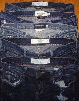 ABERCROMBIE JEANS School Lot Teen Girls 16 0 Juniors Skinny Destroyed Distressed