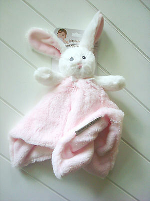 NEW Blankets & Beyond Security Blanket Bunny White Pink Baby Lovey Dou NuNu SOFT