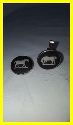Silver And Wedgewood Plaque Horse Cufflinks For Repair