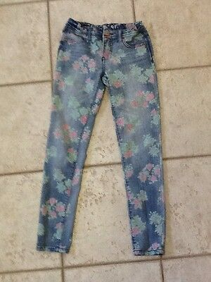 Girls jeans by Cherokee, size 12, Printed Distressed Jeans